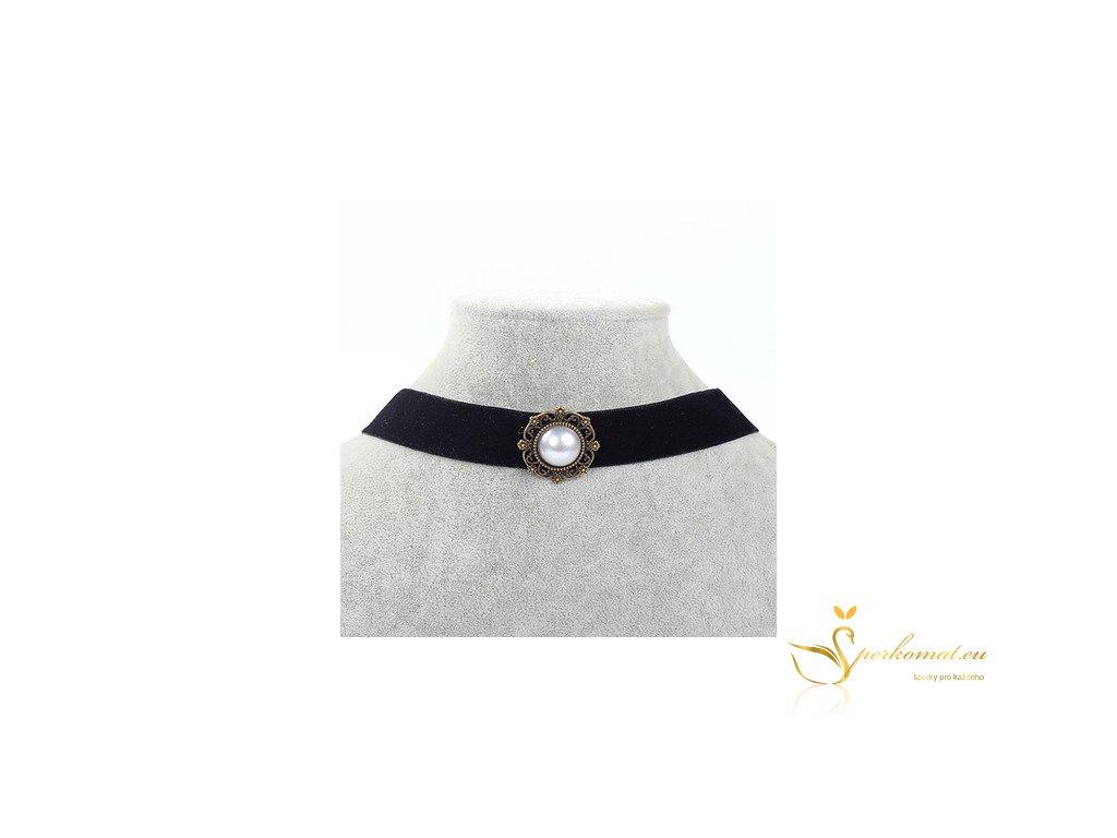 Vintage náhrdelník perleť