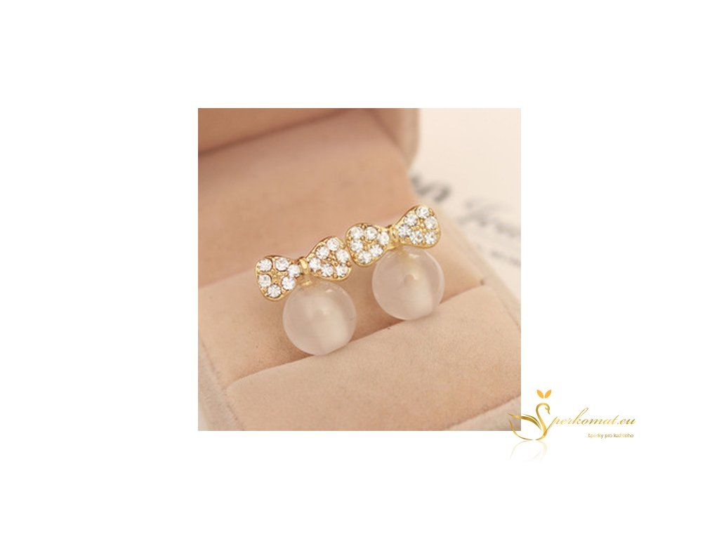 Elegantní náušnice s perlou(imitace).