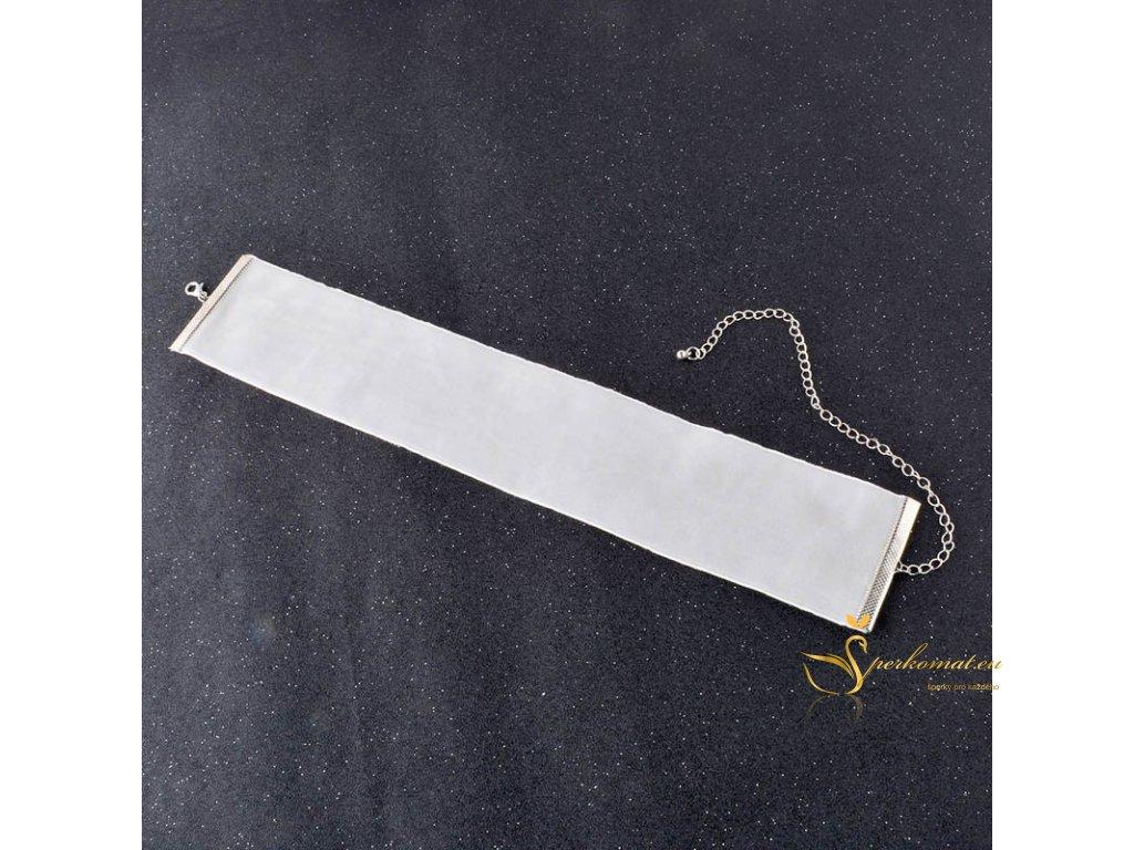 Široký semišový náhrdelník (obojek)