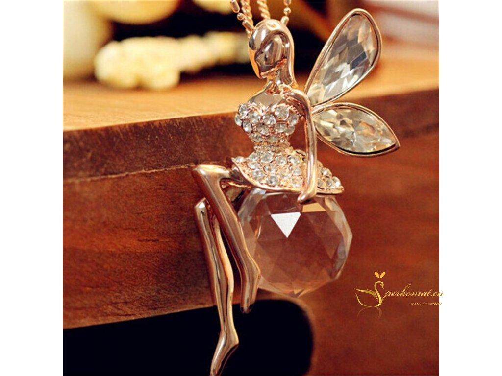 Luxusní náhrdelník s nádherným andělem.
