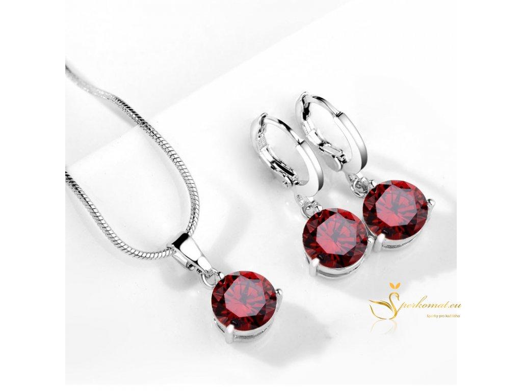 Červená sada šperků