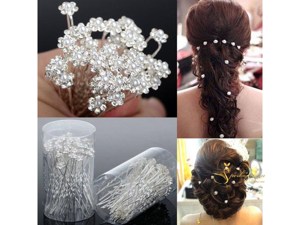 Stříbrná jehlice do vlasů