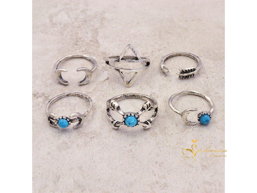 Sada vintage prstenů