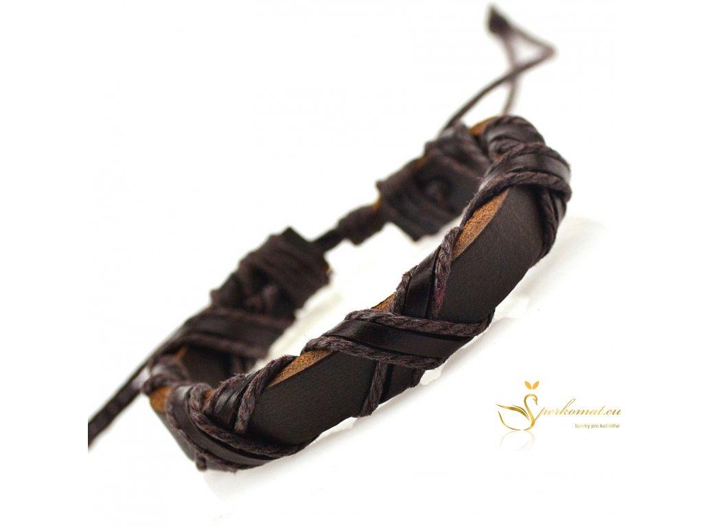 Ručně dělaný kožený náramek pro muže i ženy
