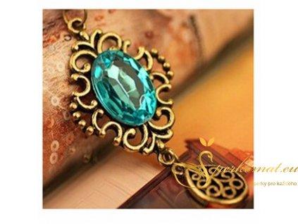 Vintage náhrdelník velký rubín