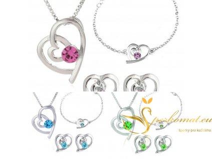 Sety šperků pro zamilované vhodné jako dárek z lásky,nebo k Valentýnu
