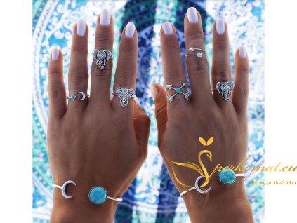 Sada 6 prstenů slon