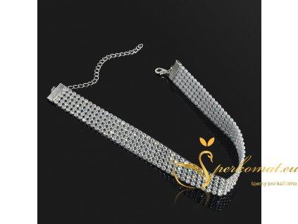 Krásný postříbřený náhrdelník