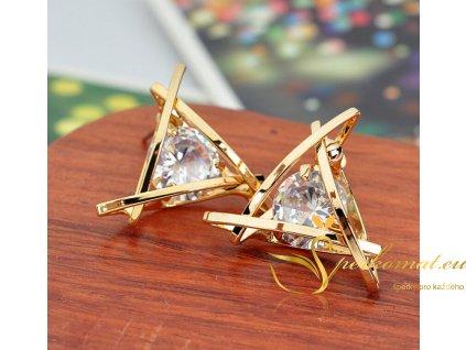 Luxusní zlaté náušnice s drahokamy