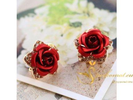 Luxusní náušnice ve tvaru růže1