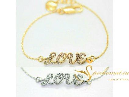 Luxusní zlatý řetízek na nohu láska