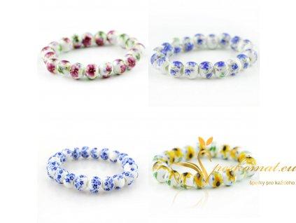Nádherné porcelánové náramky s motivem květin