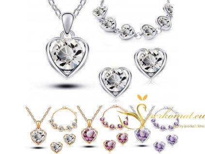Luxusní sety náhrdelníku, náušnic a náramku v 5 kombinacích