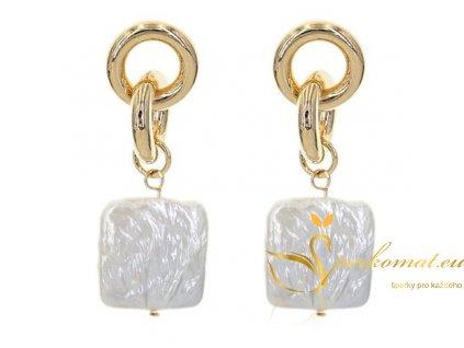 Náušnice vyrobeny ze sladkovodních perel C