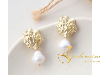 Náušnice vyrobeny ze sladkovodních perel E
