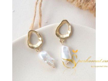 Náušnice vyrobeny ze sladkovodních perel F2
