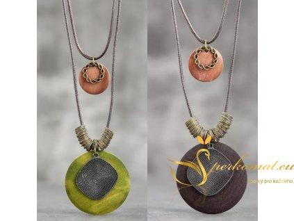 Moderní designové dřevěné náhrdelníky