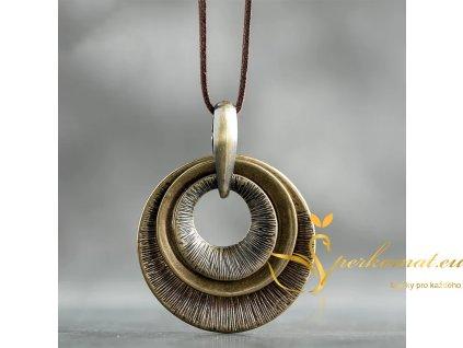 Designový retro náhrdelník