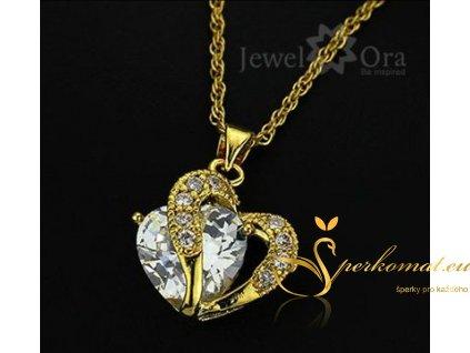 Přívěšek ve tvaru srdce. Bílo zlatý