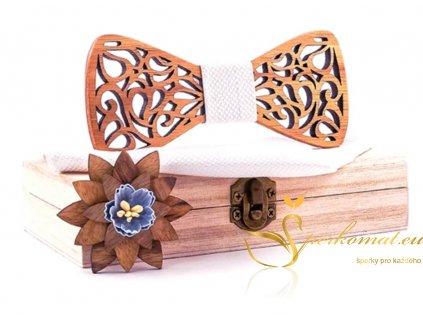Luxusní dřevěný motýlek H132
