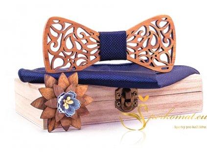 Luxusní dřevěný motýlek H133