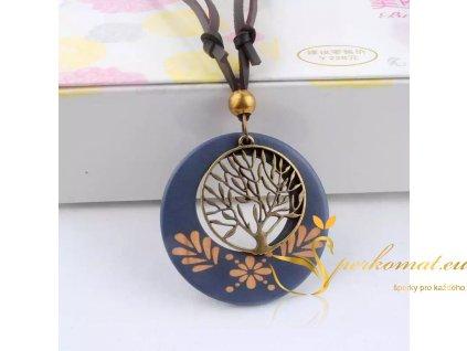 Dřevěný designový náhrdelník