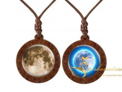 Dřevěné náhrdelníky s měsícem