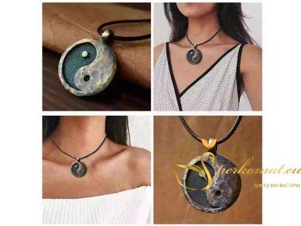 Kovaný náhrdelník jin jang