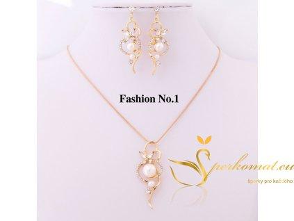 Set náušnic a náhrdelníku perla.