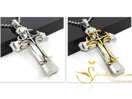 Luxusní náramek ve tvaru kříže.