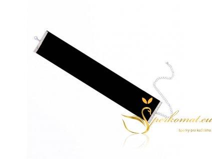 Široký semišový náhrdelník(obojek)