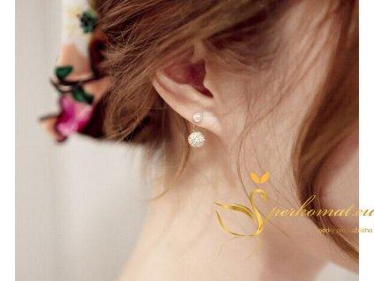 Náušnice dvou perel.