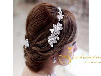 Luxusní svatební čelenka