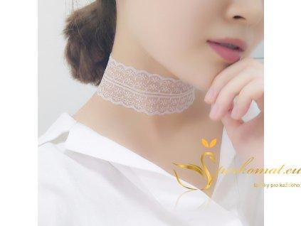 Bílí krajkový náhrdelník