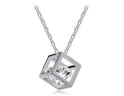 Originální postříbřený náhrdelník