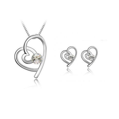 Set šperků pro zamilované vhodné jako dárek z lásky,nebo k Valentýnu