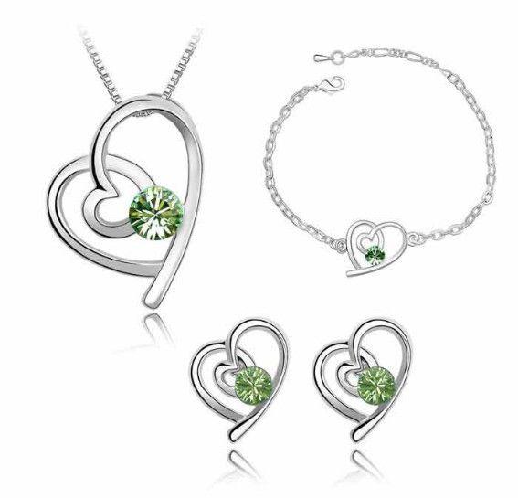 Sety šperků pro zamilované vhodné jako dárek z lásky,nebo k Valentýnu Barva: Zelená