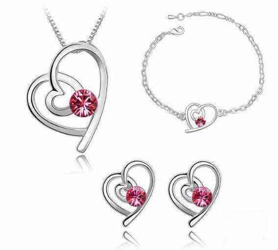 Sety šperků pro zamilované vhodné jako dárek z lásky,nebo k Valentýnu Barva: ČERVENÁ