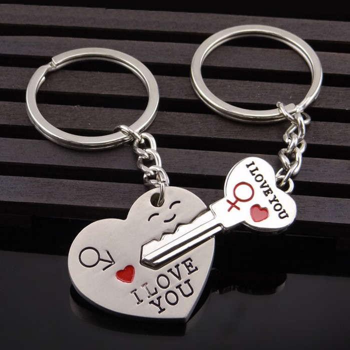 Sada přívěšků na klíče pro zamilované