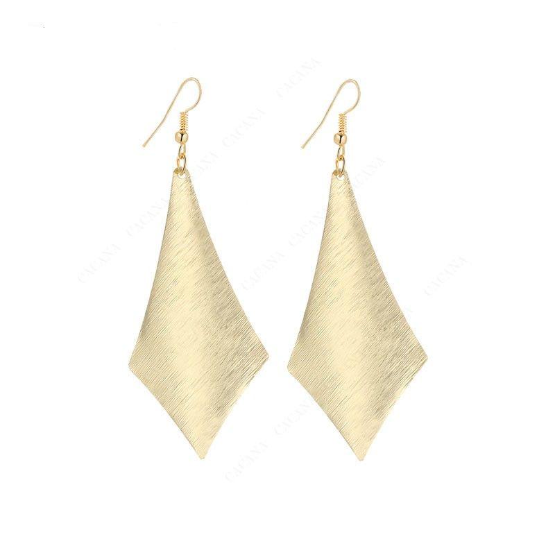Stříbrné a zlaté plátové náušnice Barva: ZLATÁ