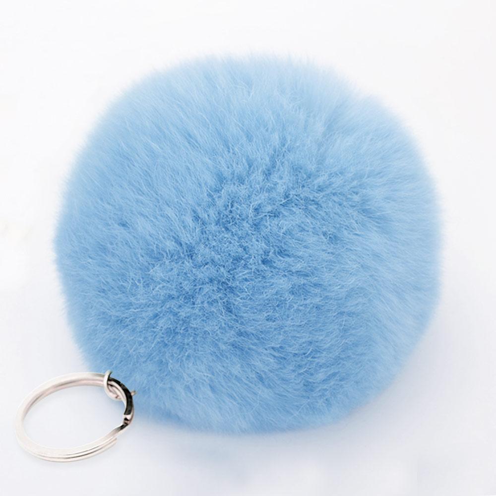 Králičí přívěšky (bambule) na kabelku, klíče a telefony Barva: Modrá