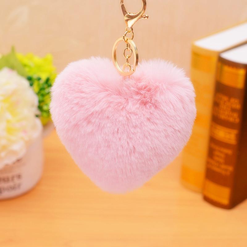 Králičí přívěšky (srdíčka) na kabelku, klíče a telefony Barva: RUZOVA