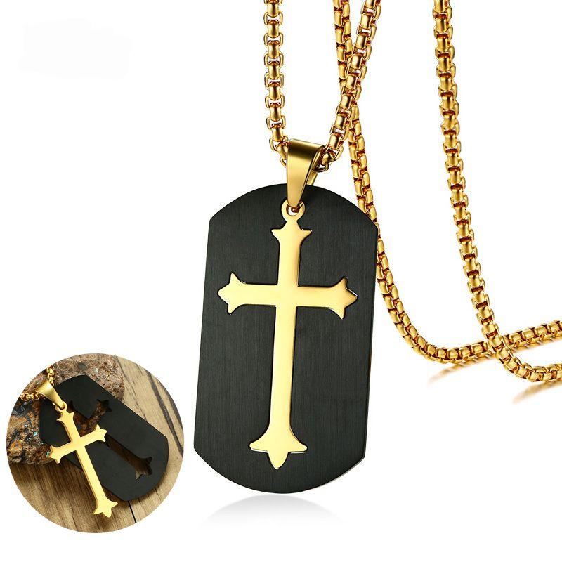 Luxusní psí známka s křížem
