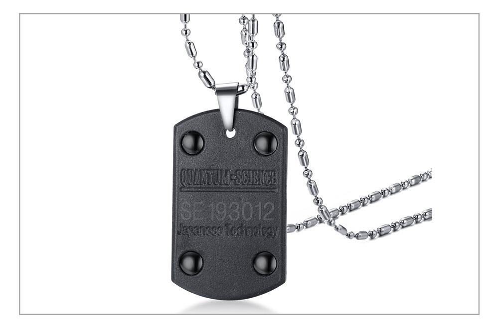 Kvantový skalární energetický náhrdelník psí známka Varianta: 1