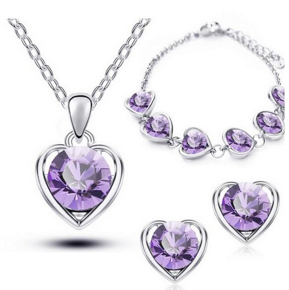Luxusní sety náhrdelníku, náušnic a náramku v 5 kombinacích Varianta: 2