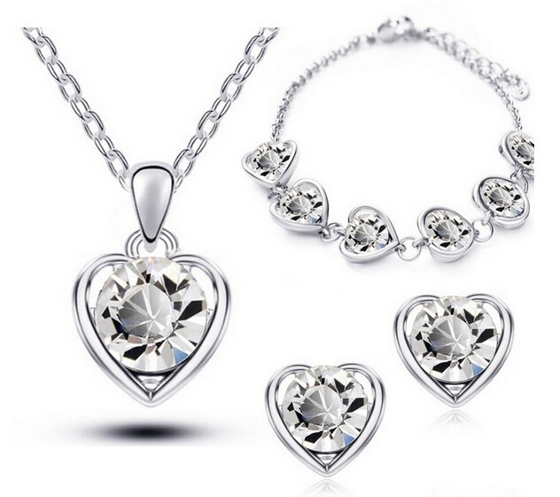 Luxusní sety náhrdelníku, náušnic a náramku v 5 kombinacích Varianta: 1