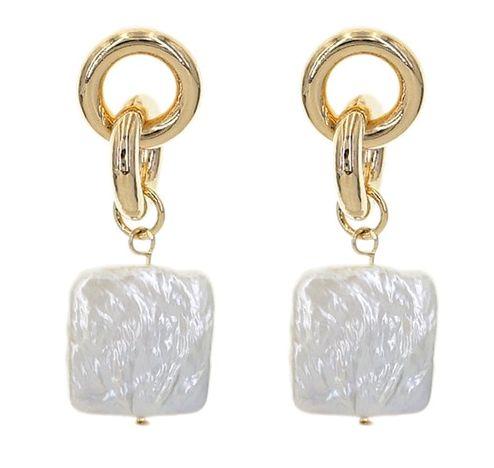Náušnice s perlou (C)