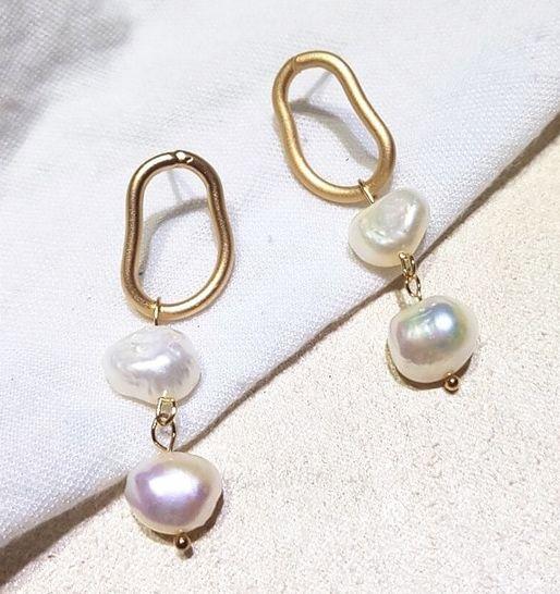 Náušnice s perlou (V)