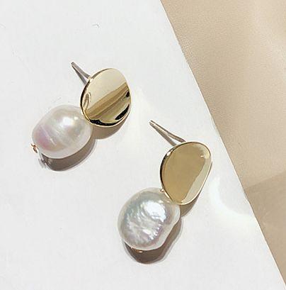 Náušnice s perlou (D)