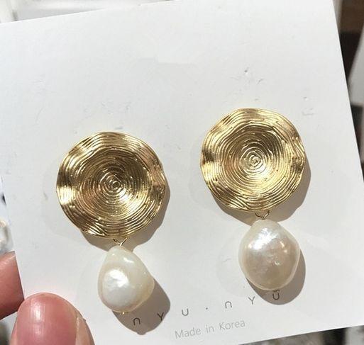 Náušnice s perlou (F)